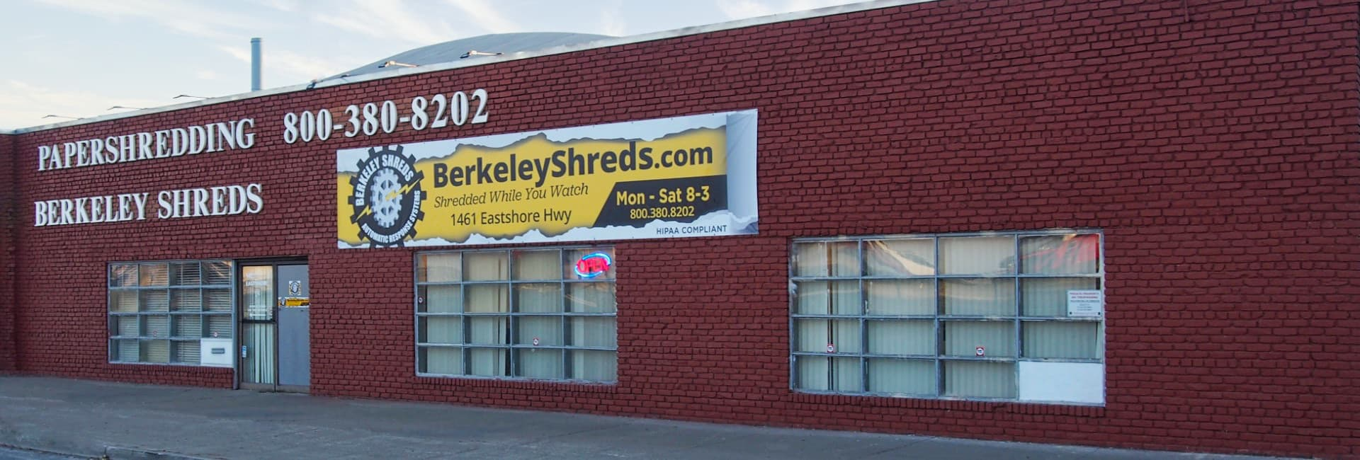 Berkeley Shreds Building - Website